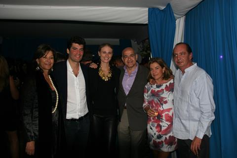 At the Colombia party on Saturday:  Claudia TRIANA, Alejandro SANTO DOMINGO, Julie HENDERSON, Munir FALAH, Cristina de LEBRIJA, Alejandro LEBRIJA
